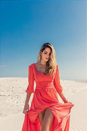 Vestido Daiane Coral