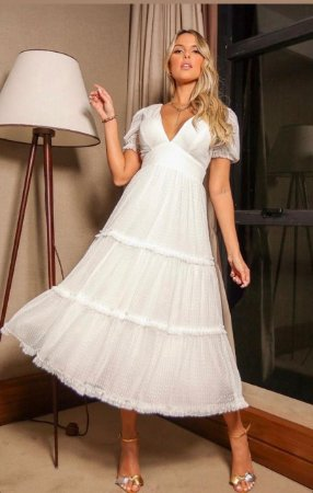 Vestido Helena Off White