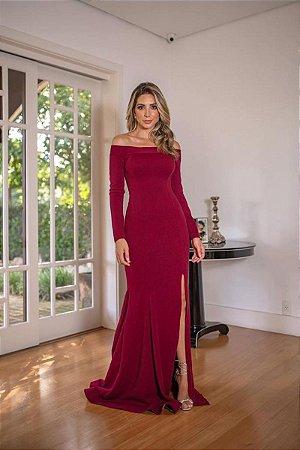 Vestido Cláudia Marsala