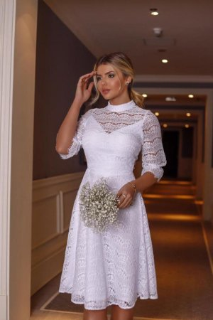 Vestido Midi Mila Off White