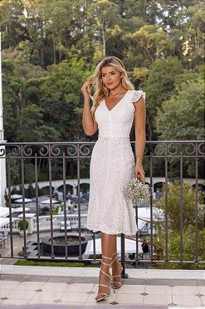 Vestido Midi Bruna Off White