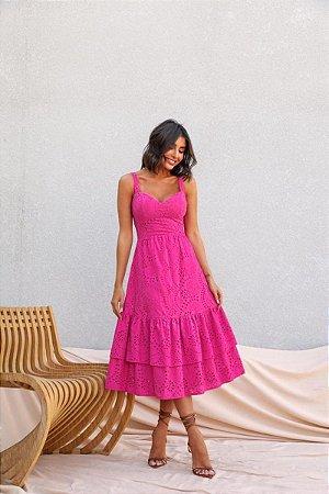 Vestido Midi Raiane Pink
