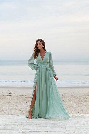Vestido Fabiola Verde Menta