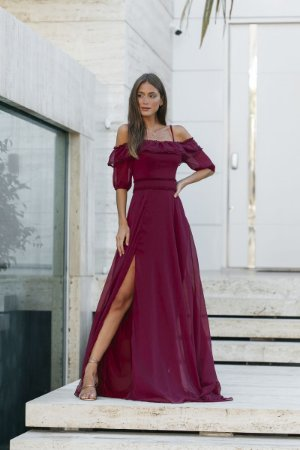 Vestido Amabel Marsala
