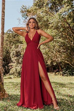 Vestido Isabel Marsala