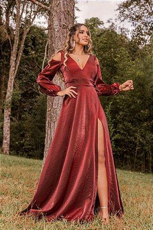 Vestido Melissa Marsala