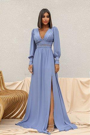 Vestido Mirela Azul Serenity