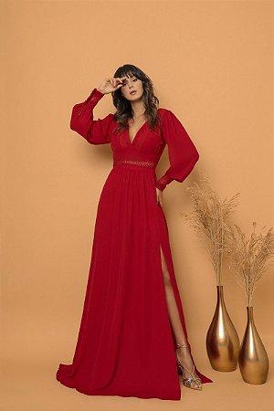 Vestido Mirela Vermelho