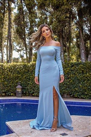 Vestido Cláudia Azul Serenity