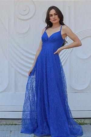 Vestido Pérola Azul Royal