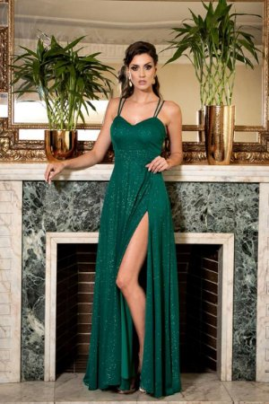Vestido Florenza Verde Bandeira