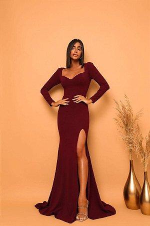 Vestido Cora Marsala