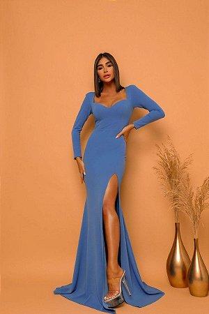 Vestido Cora Azul Petróleo