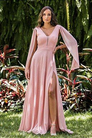 Vestido Lurex Grecia Rosa