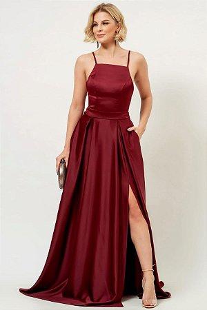 Vestido Luiza Marsala