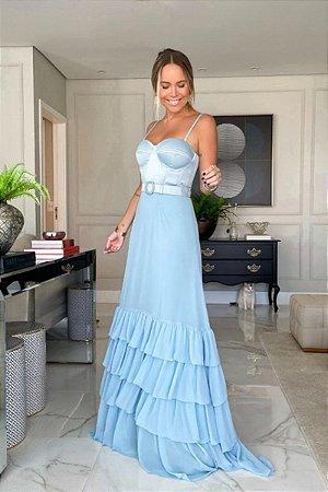 Vestido Cristine Azul Serenity