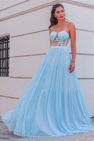 Vestido Amanda Azul Serenity