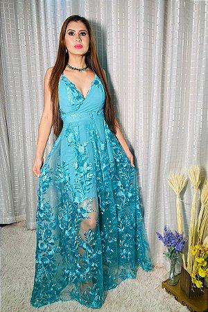 Vestido Valentina Verde Tiffany