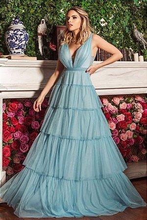 Vestido Iasmin Azul Serenity