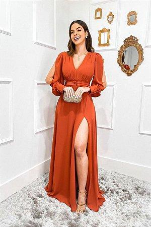 Vestido Loren Marsala