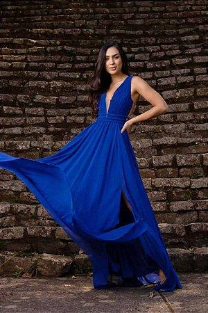 Vestido Micaele Azul Royal
