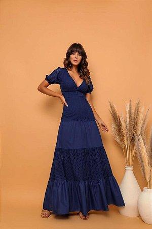 Vestido Juliana Azul Marinho
