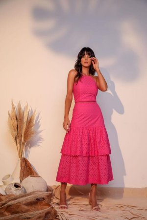 Vestido Midi Ully Pink