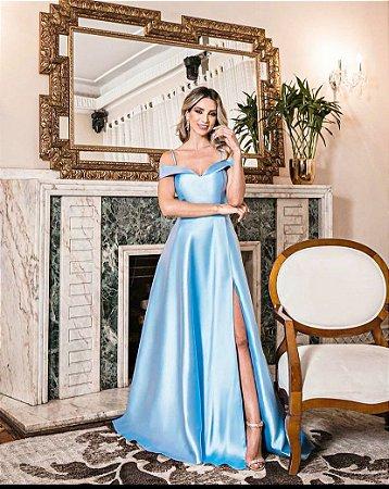 Vestido Merlyn Azul Serenity