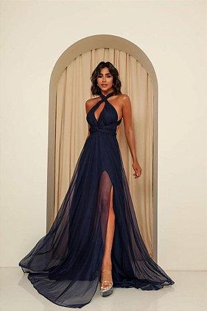Vestido Mil Formas Azul Marinho