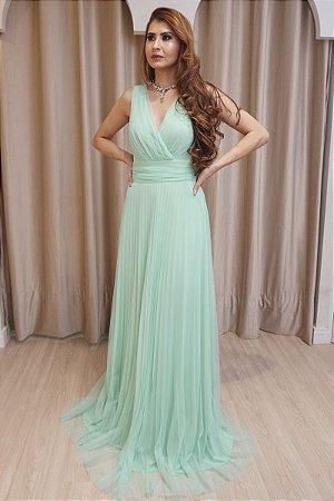 Vestido Marina Verde Menta
