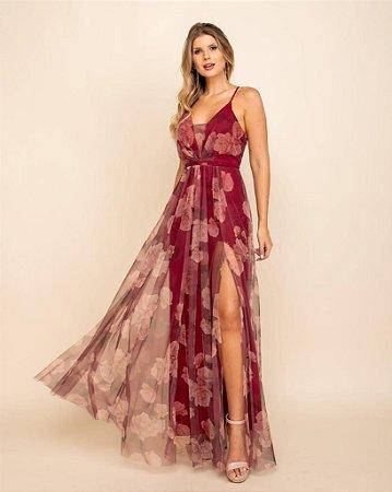 Vestido Verônica Marsala
