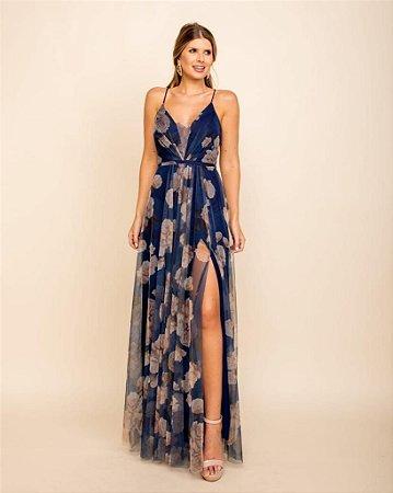 Vestido Verônica Azul Marinho