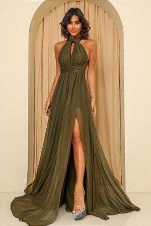 Vestido Mil Formas Verde Oliva
