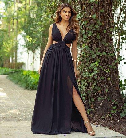 Vestido Mônaco Preto