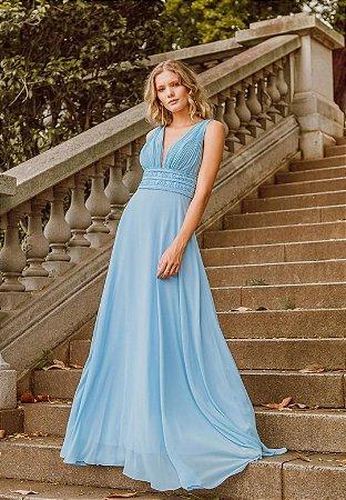 Vestido Pérola Azul Serenity