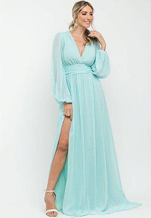 Vestido Fabiola  Pontos de Brilho Tiffany