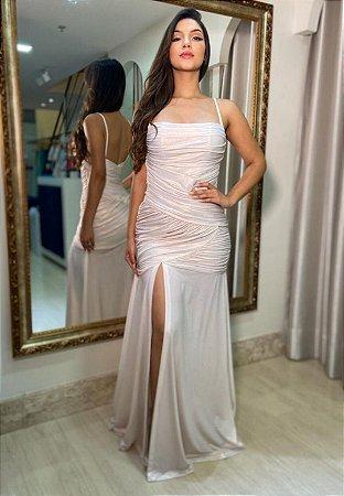 Vestido Sereia Branco Pérola