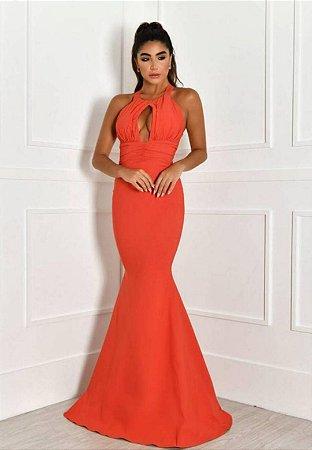 Vestido Det Cintura Coral