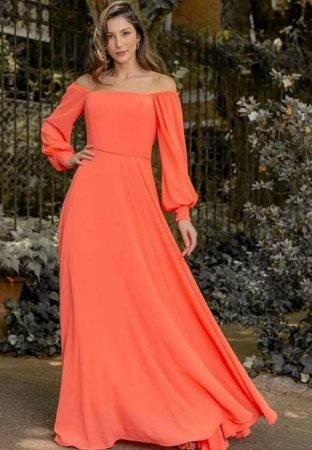 Vestido Ombrinho Coral