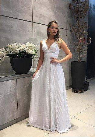 Vestido Listra Branco