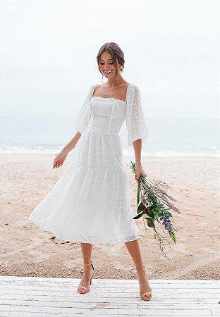 Vestido Cacau Off-White