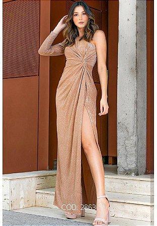 Vestido Angelina Dourado