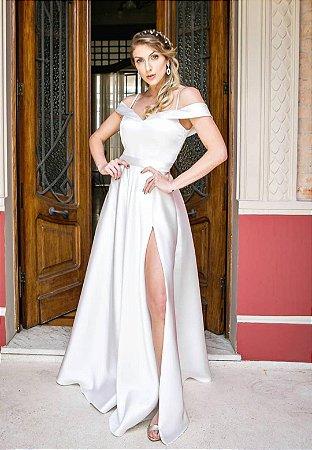Vestido Zibeline Branco