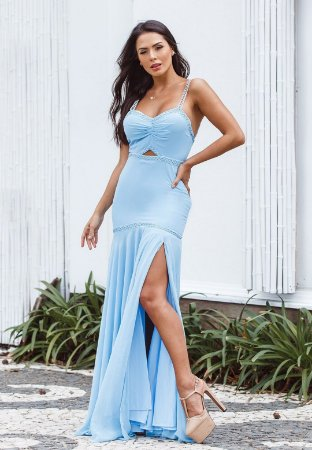 Vestido Ashley Azul Serenity