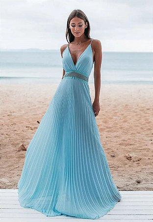 Vestido Geise Azul Serenity
