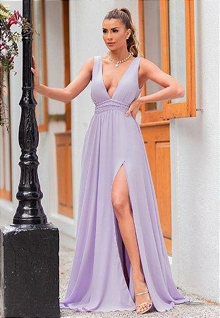 Vestido Serena Lilás