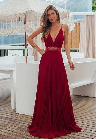 Vestido Geise Marsala