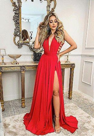 Vestido Safira Vermelho