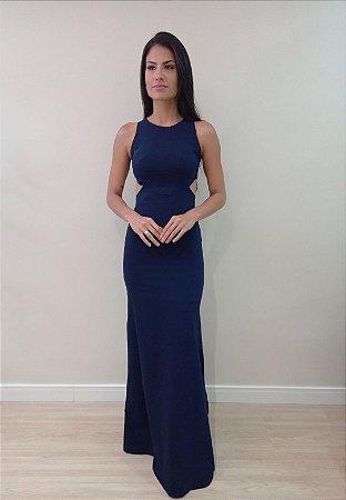 Vestido Vivian Azul Marinho