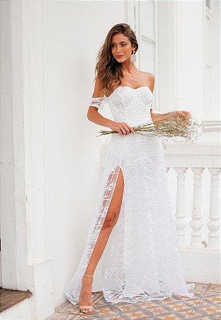 Vestido Ametista Off White